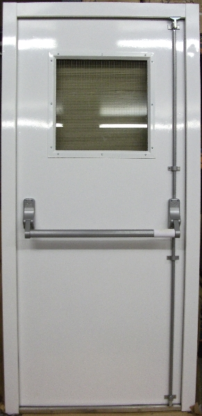 Fire exit doors fire rated doors steel fire exit doors for Door vision panel